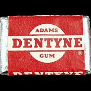 Vintage Chewing Gum Tab - Old Dentyne Sick of Gum