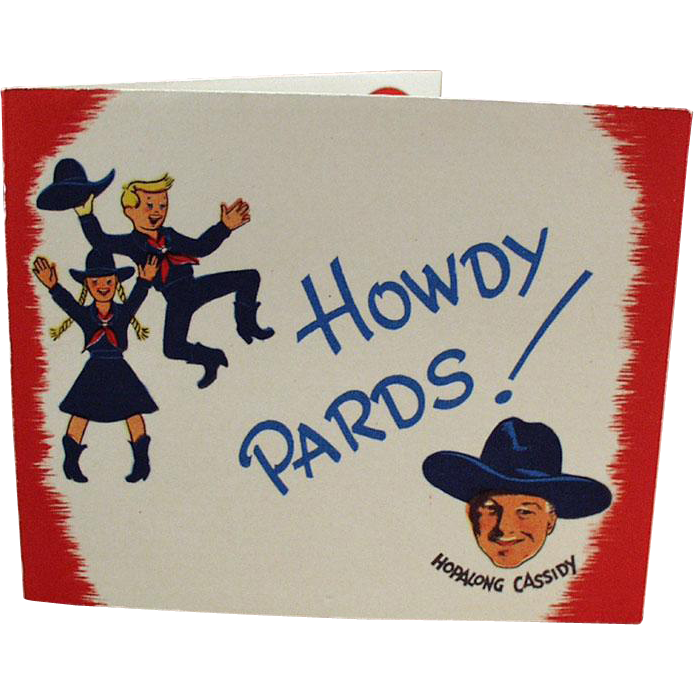 Vintage Hopalong Cassidy Memorabilia - Old Party Invitation with Hoppy