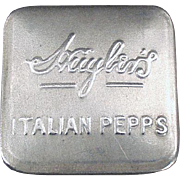 Vintage Aluminum  Advertising Tin - Huyler's Italian Pepps - Early 1900's