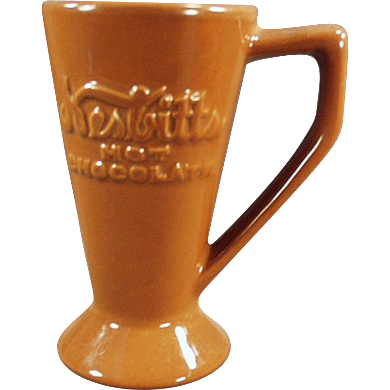 Vintage Nesbitts' Hot Chocolate Cup - Old Pottery Cocoa Mug with Advertising
