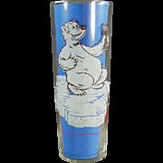 Vintage Soda Glass - Old Richardson Freeze Advertising Glass - Cool Off Polar Bear