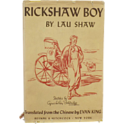 Vintage Novel -  Rickshaw Boy by Lau Shaw – Nicely Illustrated Old Book