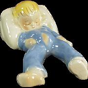 Vintage California Pottery - Old Dadson Artware Toddler Figurine - Sleeping Baby