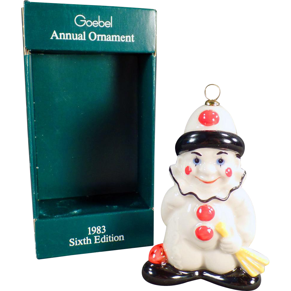 Vintage Goebel Christmas Tree Ornament - Old Goebel Ornament with Original Box - 1983
