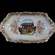 Vintage Snohomish, Washington Souvenir - Old Pin Tray with the Cedar Stump Home