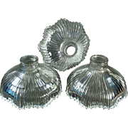 Set of 3 Vintage Light Shades - Small Neck Shades for Old Fixture - Franklin 1905