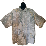 Vintage Hawaiian Style Casual Shirt – Hibiscus Flower Design - Majestic – Size XXL