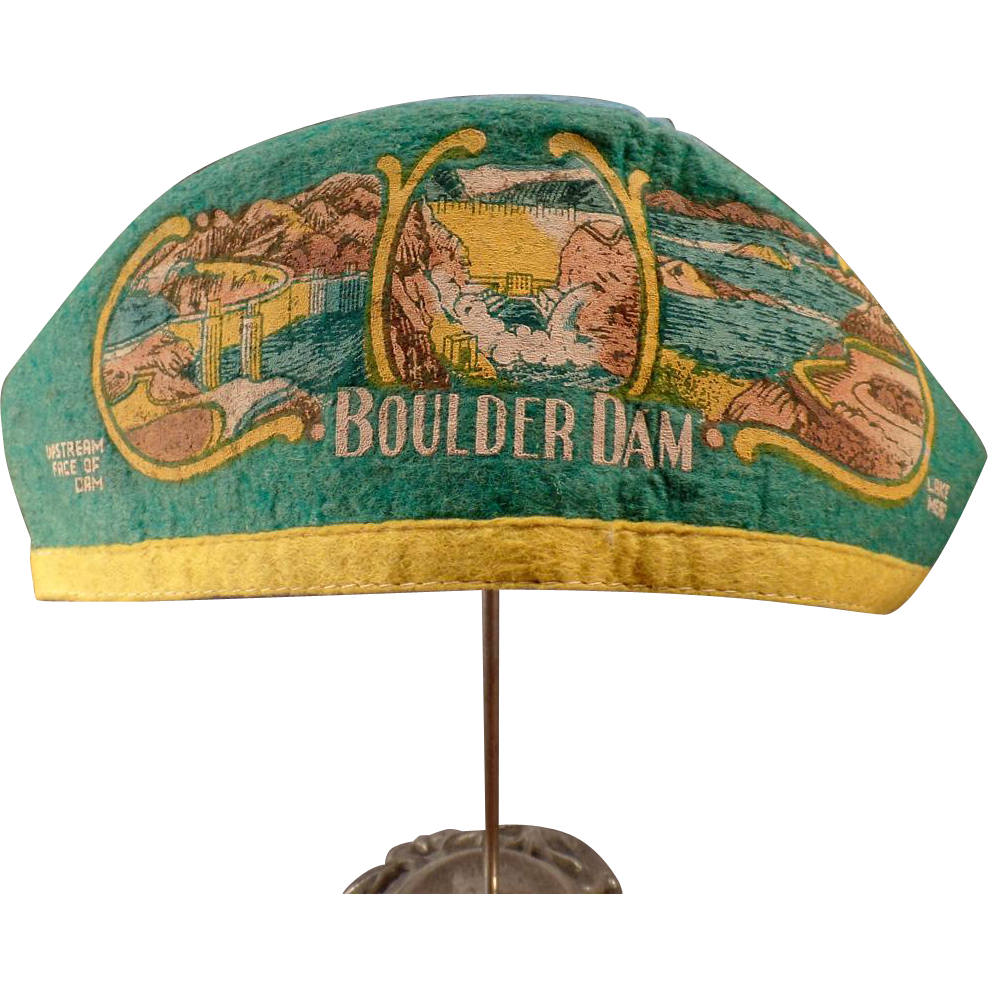 "Vintage Felt Souvenir Cap – Old Hat from Boulder Dam with ""I'm from Idaho"""