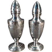 Vintage Sterling Salt & Pepper Set – Old Vanderbilt Sterling Silver Shakers