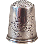 Vintage Sewing Thimble – Antique Swedish Thimble – Silver Steel Capped Thimble