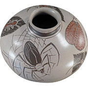 Old Mexican Pottery - Muted Glaze - Spider and Insect Motif