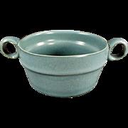 Vintage Art Pottery - Old Bennington Handled Pottery Bowl - Vermont Potters