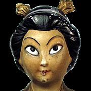 Vintage Incense Burner - Oriental Girl - Old Porcelain Novelty Made in Germany