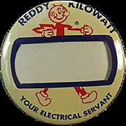 Vintage Pinback - Old Reddy Kilowatt Name Badge Pinback