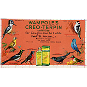 Vintage Ink Blotter - Old Blotter Advertising Wampole's Creo-Terpin