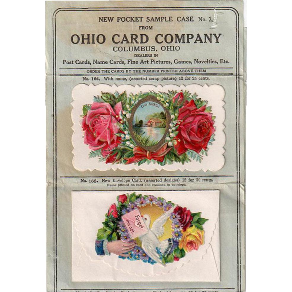 Vintage Sample Pocket Case -Old Ohio Card Company Dealer Sample Packet