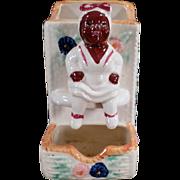 Vintage Black Memorabilia - Old Kitchen Matchbox Holder with Mammy Figure