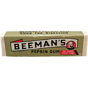 Vintage Chewing Gum - Old Beeman's Package of 5 Sticks Never Opened – 1940's