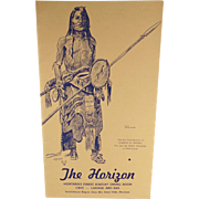 Vintage Restaurant Menu – The Horizon, Montana – Charles Russell Sioux Indian Sketch - Buffalo Hunter