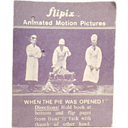 "Vintage Optical Illusion Flip Book -Old Flipix ""When the Pie Was Opened"" Dancing Girl"
