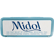 Vintage Medical Tin - Old Midol for Menstrual Disorders and More