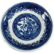 Vintage Butter Pat - Old Blue Willow Butter Pat - Shenango China