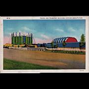 Vintage Postcard - 1933 Century of Progress Postcard - Travel and Transport Building