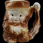 Vintage Davy Crockett Childs Cup -Old Ceramic Mug by Brush Pottery
