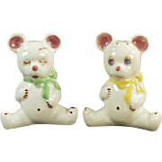 Vintage Salt and Pepper - Old California Pottery Teddy Bear S & P Set