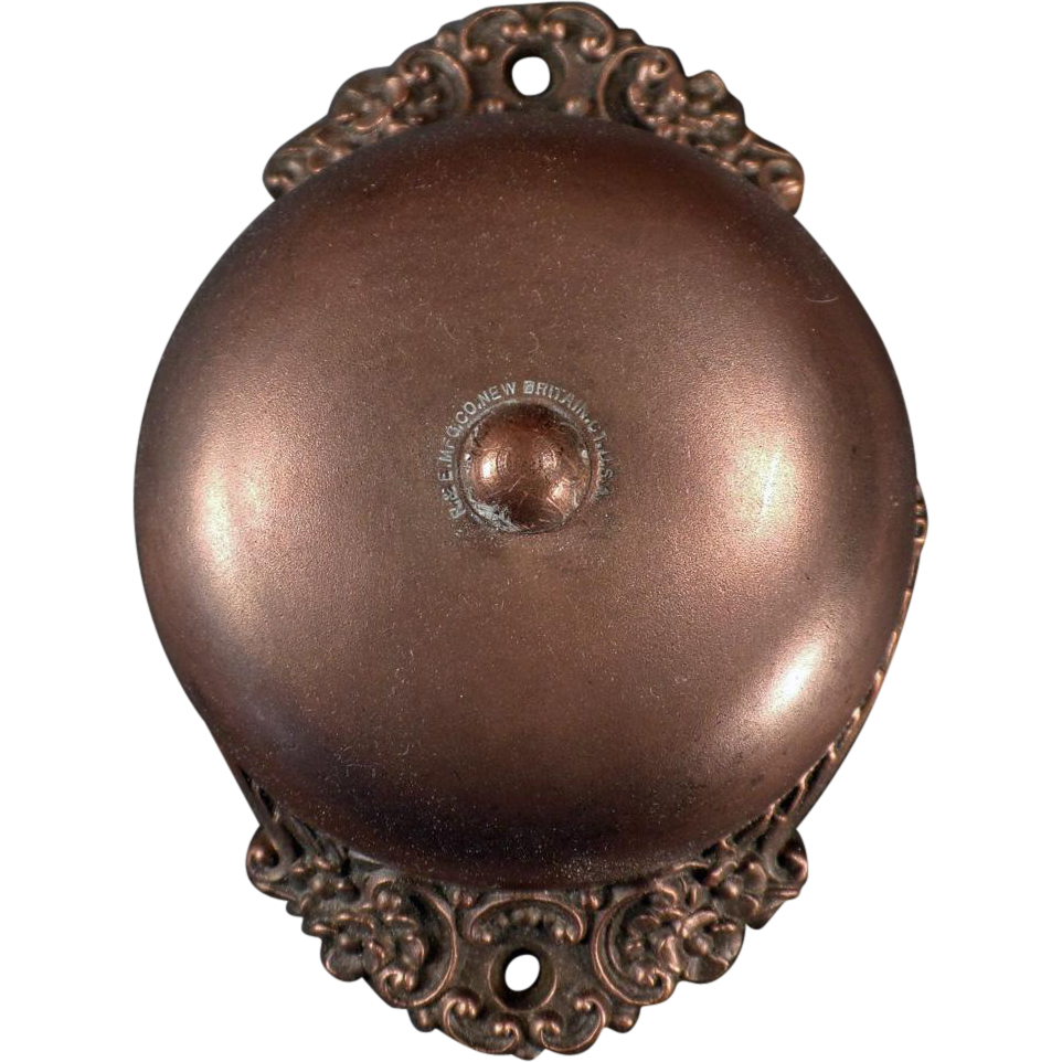 Antique Door Bell - Old 1893 Russell and Erwin Mechanical Doorbell - Antique Door Bell - Old 1893 Russell And Erwin Mechanical Doorbell