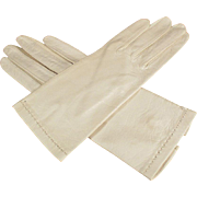 Vintage Leather Gloves - Ladies Old Stetson Gloves Made in Italy - 1940's