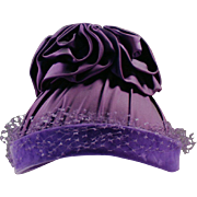 Vintage Hat  - Outrageously Purple Old Hat