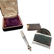 Vintage Razor – Old Cowan Master Barber Hair Cutter with Box