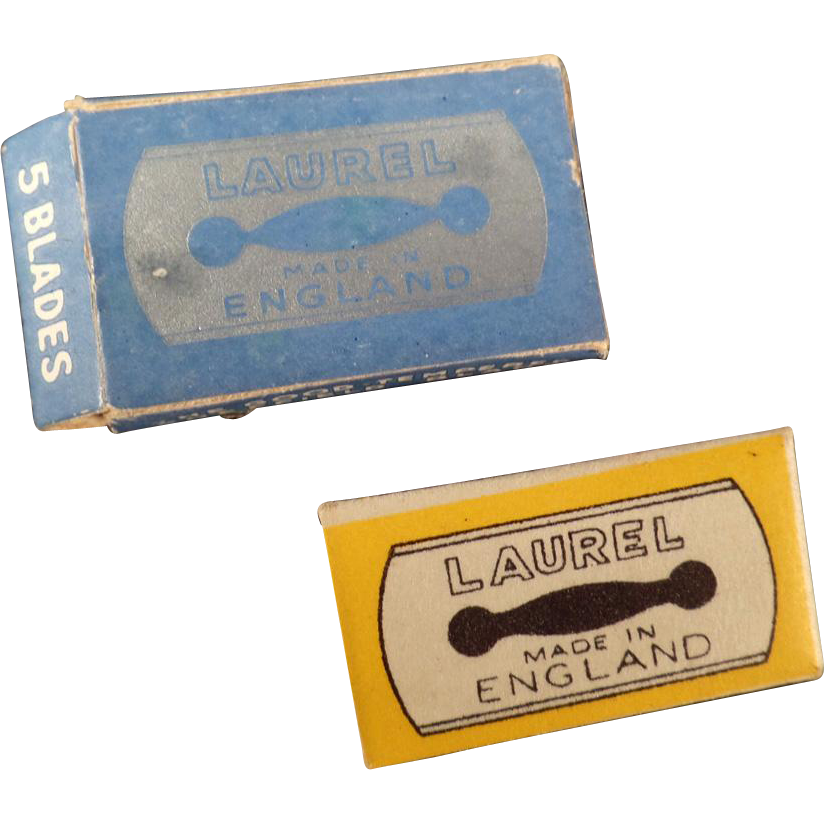 Vintage Safety Razor Blades - Old Replacement Blades for The Laurel