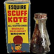 Vintage Shoe Polish with Circus Theme on the Original Box - Old Esquire Scuff Kote