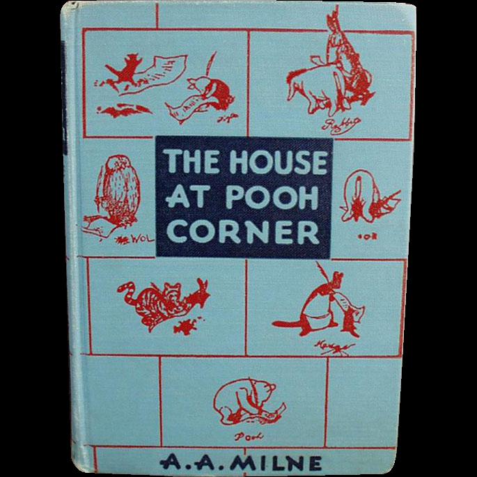 Vintage Winnie the Pooh Book - The House at Pooh Corner 1952 Hardbound Edition