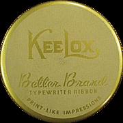 Vintage Ribbon Tin - Old KeeLox Typewriter Ribbon Tin - Better Brands