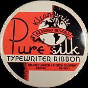 Vintage Ribbon Tin - Old Typewriter Ribbon Tin - Klean-Write Pure Silk