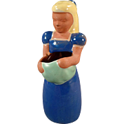 Vintage Pottery Frankoma - Old Frankoma Kid - #701 Gardener Girl