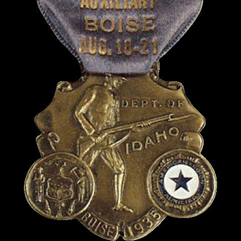 Vintage Medal with Original Ribbon - 1935 Idaho American Legion Auxiliary