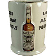 Vintage Whiskey Advertising Mug - Old Martin's Whiskey Porcelain Cup
