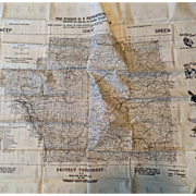 1948 Clearwater National Forest of Idaho - Sportsman Washable Cloth Map - Exceptional Outdoor Reference