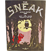 Vintage Sheet Music - The Sneak Novelty Fox Trot - Spooky Graphics