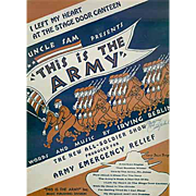 Vintage Sheet Music - This Is The Army Mister Jones - I Left My Heart at the Stage Door Canteen
