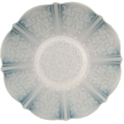 "Vintage American Sweetheart  Plate - 10 5/8"" Plate - Monax White with Design - Mac Beth Evans Glass Co."