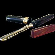 Vintage Fountain Pen Safety Razor - Old Arnold Fountain Pen Razor with Blade and Tin