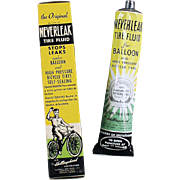 Vintage Neverleak Tube and Box - Old Bicycle Tire Repair for Balloon Tires