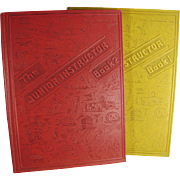 Vintage Junior Instructor Books for Children - Two Volume Set Full of Fun and Knowledge