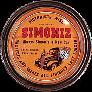 Vintage Advertising Tin - Old Simoniz Automotive and Furniture Wax Tin