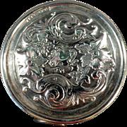 Vintage Tape Measure -  Old Sterling Silver Tape with Elaborate Floral Design